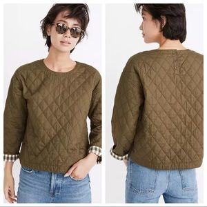 Madewell quilted top sz XL NWT (ю34)